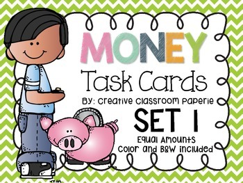 Money Task Cards-Equal Amounts
