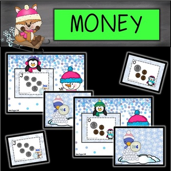 DIGITAL and PAPER Winter Money Task Cards/Write the Room