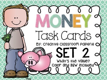 Money Task Cards What's the Value?