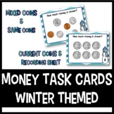 Money Task Cards: Winter Themed