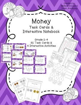 Money Task Cards and  Interactive Journal Activities