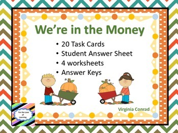 Money Task Cards and Worksheets---Fall Theme