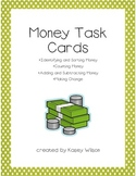 Money Task Cards (identify, sort, count, add, subtract money & make change)