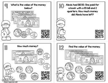 Money Task Cards with Optional QR Codes