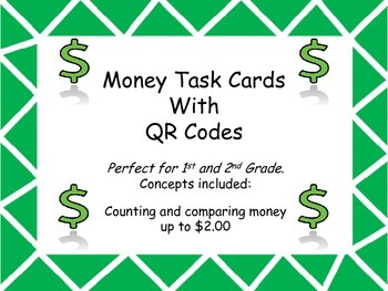 Money Task Cards with QR Codes- 1st/2nd