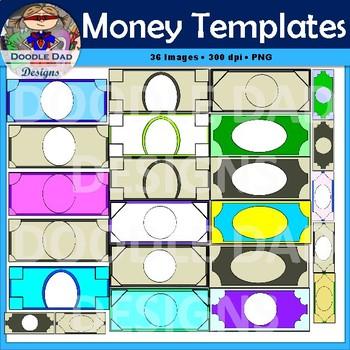 Money Template Clip Art Customizable Currency Finance Reward Bucks