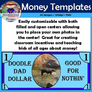 money template clip art customizable currency finance reward bucks