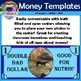 Money Template Clip Art (Customizable, Currency, Finance,