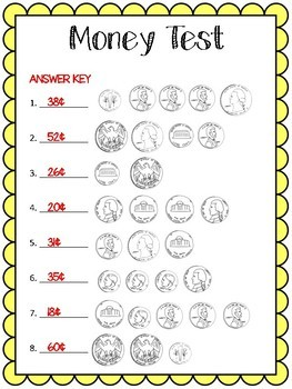 Money Test with answer key!