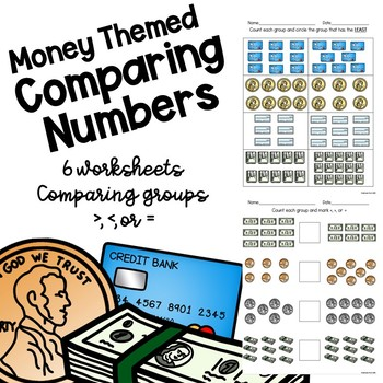 Money Themed Math Worksheets - Comparing Numbers