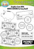 Money Tracing Image Clipart {Zip-A-Dee-Doo-Dah Designs}