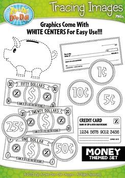 Money Tracing Image Clipart {Zip-A-Dee-Doo-Dah Designs}
