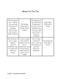 Money Tic Tac Toe Choice Board