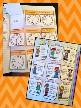 Money, Time, Temperature, & Calendar Interactive Notebook