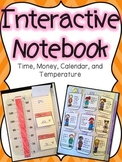 Money, Time, Temperature, & Calendar Interactive Notebook