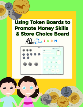 Using Token Boards to Promote Money Skills & Store Choice Board (Canadian)