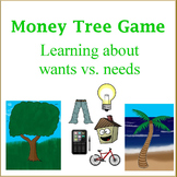 Money Tree Game- Teaching kids about wants vs. needs