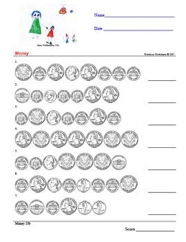 Money - US Coins - Wondrous Worksheets