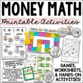 Money Math, Counting Coins, and Making Change Activities