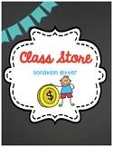 Money Unit: Class Store Donation Letter