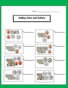 MONEY UNIT:  Counting Coins, Money Worksheets, Money Poster, Task Cards