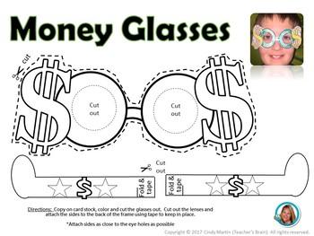 Money Unit Glasses - Wants and Needs - Economics