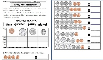 Money Unit: Identifying and Counting Coins up to a Dollar