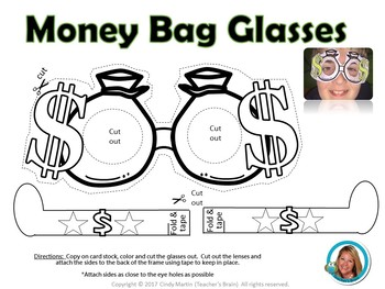 "Money Unit ""Money Bag"" Glasses - Wants and Needs"