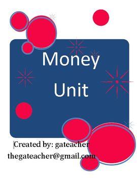 Money Unit Pack for Common Core Standards