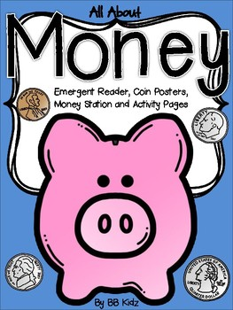 Money Unit for Kindergarten {Reader, Station, Posters and Activities}