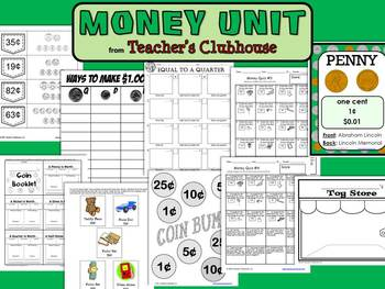Money Unit from Teacher's Clubhouse
