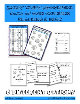 Money Value Recognition Graph and Booklet set - 6 options- Theme Center Activity