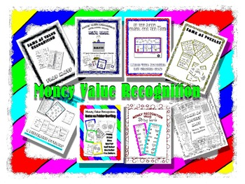 Money Value Recognition Themed Center Bag Unit - Emergent Reader Included