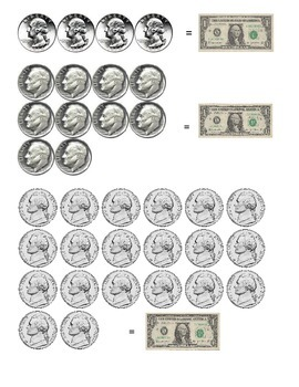 Money - Value/ counting practice