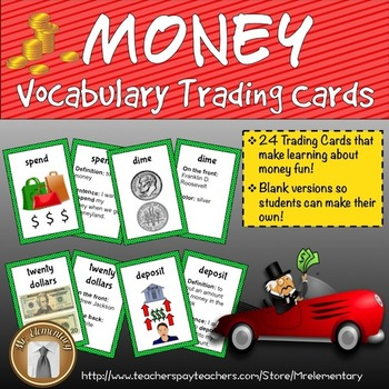 Money Vocabulary Trading Cards