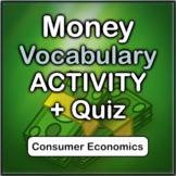 Money Vocabulary Activity + Quiz