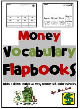 Money Vocabulary Flapbooks