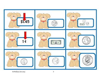 Money Vocabulary Words Center Activity