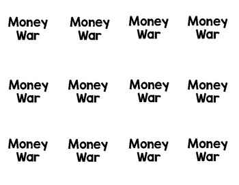 Money War - A counting money card game