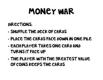 Money War-Coins and Bills