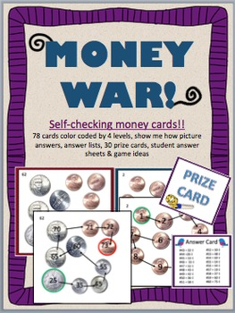 Money War!  Self-Checking Money Counting Practice