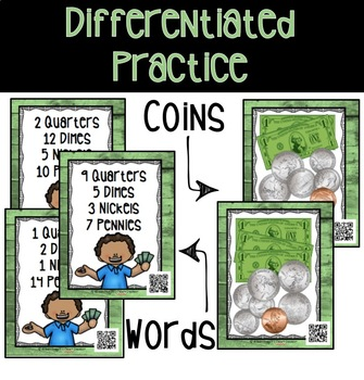 Money War with QR Codes - Counting Coins and TEI Item Practice