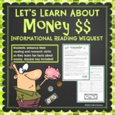 Money Webquest - Fun Informational Reading Research Activity Worksheets
