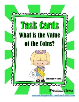 Money - What is the Value of the Coins? - Task Cards