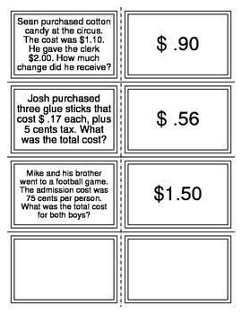 Money Word Problem Flashcards
