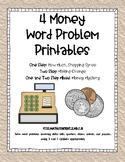 Four Money Word Problem Printables (2.MD.C.8)