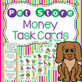 Money Word Problem Task Cards - Pet Store Theme