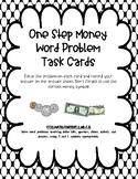 Money Word Problem Task Cards (one step)