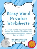Money Word Problem Worksheets- Money Resources
