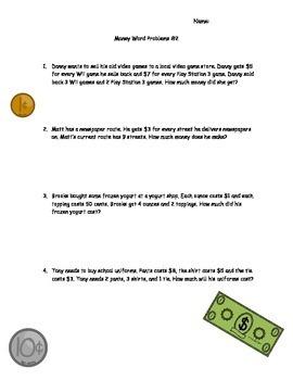 Word Problems-Money Edition